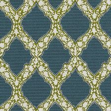 Aqua/Green Medallion Decorator Fabric by Duralee