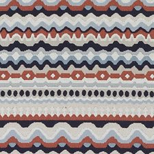 Red/Blue Chenille Decorator Fabric by Duralee