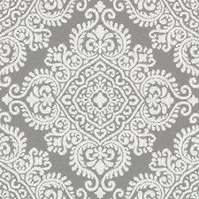 Grey Medallion Decorator Fabric by Duralee