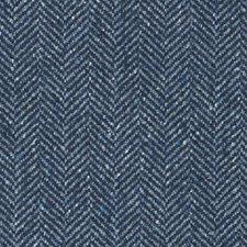 Indigo Herringbone Decorator Fabric by Duralee