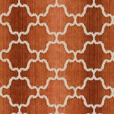 Orange Chenille Decorator Fabric by Duralee