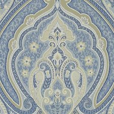 Blue/Avocado Paisley Decorator Fabric by Duralee