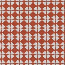 Chilipepper Geometric Decorator Fabric by Duralee