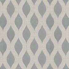 Grey/Silver Scroll Decorator Fabric by JF
