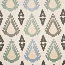 Aqua/Ivory/Multi Decorator Fabric by Threads