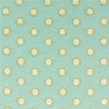 Aqua/Bronze Embroidery Decorator Fabric by Threads