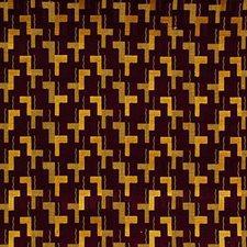 Plum/Sand Decorator Fabric by G P & J Baker