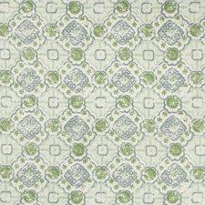 White/Green/Slate Medallion Decorator Fabric by Kravet