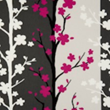 Fuchsia Floral Vine Decorator Fabric by Clarke & Clarke