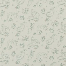 Duckegg Floral Small Decorator Fabric by Clarke & Clarke