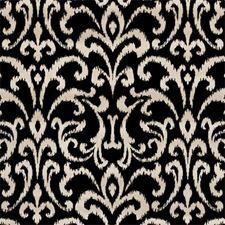 Ebony Damask Decorator Fabric by Clarke & Clarke