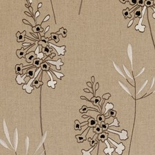 Charcoal Embroidery Decorator Fabric by Clarke & Clarke