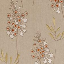 Spice Embroidery Decorator Fabric by Clarke & Clarke