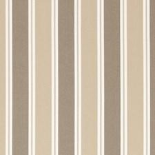 Mocha Stripes Decorator Fabric by Clarke & Clarke
