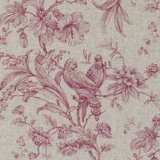 Raspberry Birds Decorator Fabric by Clarke & Clarke