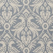 Chambray Birds Decorator Fabric by Clarke & Clarke