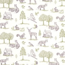 Forest Natural Decorator Fabric by Clarke & Clarke