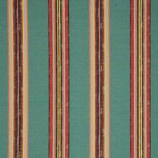 Aqua Stripes Decorator Fabric by Clarke & Clarke