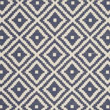 Indigo Diamond Decorator Fabric by Clarke & Clarke