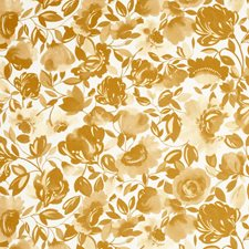 Gold Floral Large Decorator Fabric by Clarke & Clarke