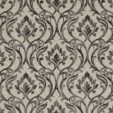 Charcoal Damask Decorator Fabric by Clarke & Clarke