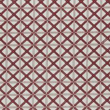 Red Weave Decorator Fabric by Clarke & Clarke