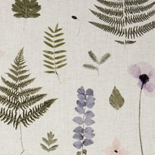 Blush/Natural Leaf Decorator Fabric by Clarke & Clarke
