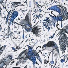 Blue Decorator Fabric by Clarke & Clarke