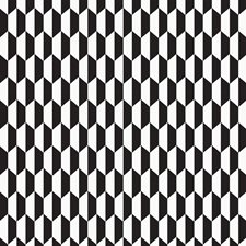 Blk Wht Geometric Decorator Fabric by Cole & Son