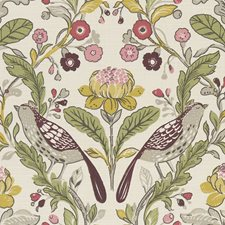 Birds Plum Decorator Fabric by Clarke & Clarke