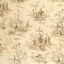 Beige/Beige Decorator Fabric by Scalamandre