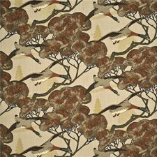 Stone/Brown Print Decorator Fabric by Mulberry Home