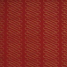 Red/Gold Print Decorator Fabric by Mulberry Home