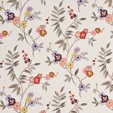 Sienna/Lime Print Decorator Fabric by Mulberry Home