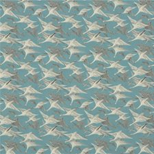 Teal Print Decorator Fabric by Mulberry Home
