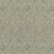Sage Paisley Decorator Fabric by Mulberry Home