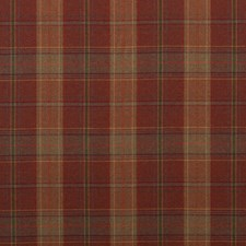 Russet Plaid Decorator Fabric by Mulberry Home