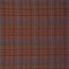 Raspberry/Aqua Weave Decorator Fabric by Mulberry Home