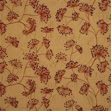 Red/Gold Botanical Decorator Fabric by Mulberry Home