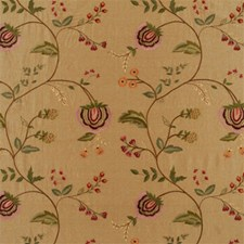 Taupe Embroidery Decorator Fabric by Mulberry Home