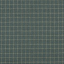 Teal Check Decorator Fabric by Mulberry Home