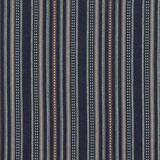 Indigo Stripes Decorator Fabric by Mulberry Home