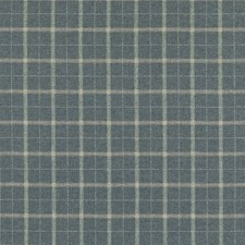 Blue Plaid Decorator Fabric by Mulberry Home