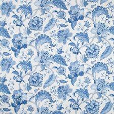 Ivory/Blue/Indigo Botanical Decorator Fabric by Kravet