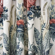 Blue/Pink Traditional Decorator Fabric by JF