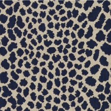 Dark Blue/Beige Animal Skins Decorator Fabric by Kravet