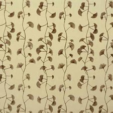 Cream/Chocolate Botanical Decorator Fabric by Groundworks