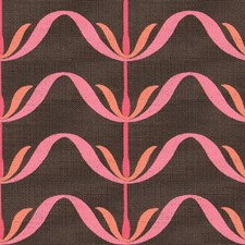 Espresso/Pink Contemporary Decorator Fabric by Groundworks