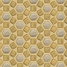 Gold Geometric Decorator Fabric by Groundworks