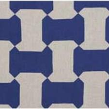 Blue Geometric Decorator Fabric by Groundworks